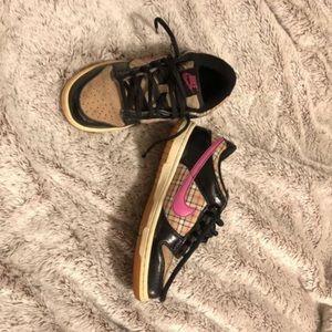 Pink, black, & tan Nike Dunks size 4Y